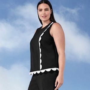 Victoria Beckham for Target Twill Tank Top Sz 1X